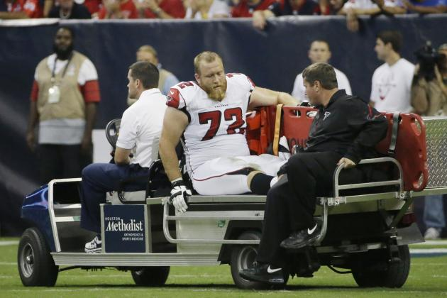 What's Next for Falcons Tackle Sam Baker After a 2nd Patellar Tendon Injury?