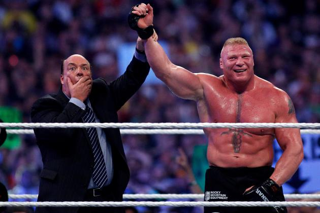 Brock Lesnar Chills with Jon Jones After Winning WWE Title at SummerSlam