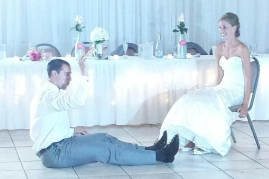 Aaron Craft Gave 110%, Got On The Floor At His Wedding Reception