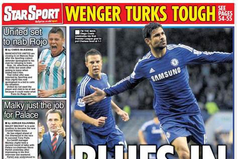 UK Back Pages: Chelsea's Hot Start, Marcos Rojo Rumours and More