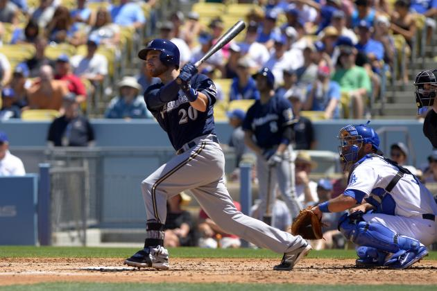 Brewers' Jonathan Lucroy Can Become 1st Modern Catcher to Lead League in Doubles