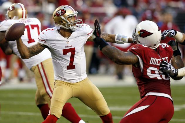 Kaepernick Reacts to Dockett's Season-Ending Knee Injury