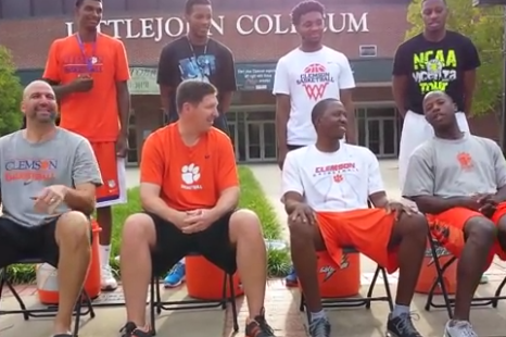 Clemson Coaching Staff Does the Ice Bucket Challenge