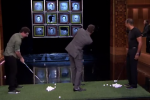 Watch: Fallon Plays 'Facebreakers' with Tiger, Rory