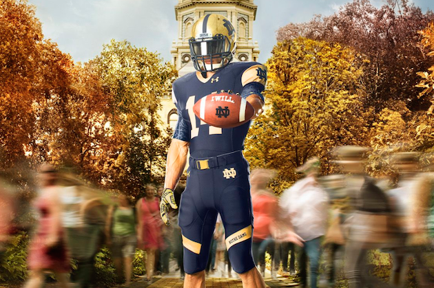 Under Armour Unveils Notre Dame Football's Uniforms for 2014-15 Season
