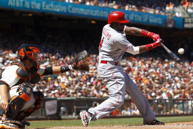 Reds' Brandon Phillips Approaching 1,500 Hits for Career