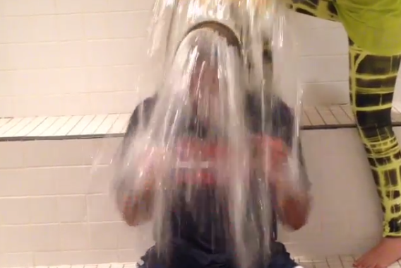 Hawks Take Part in ALS Ice Bucket Challenge
