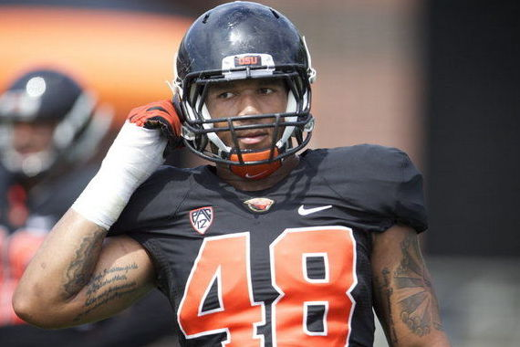 Oregon State Beavers Defensive End Jaswha James Offers Linebacker...