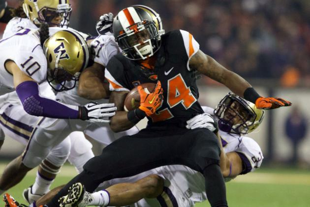 Oregon State Beavers Running Backs Working to 'Finish Through Contact'