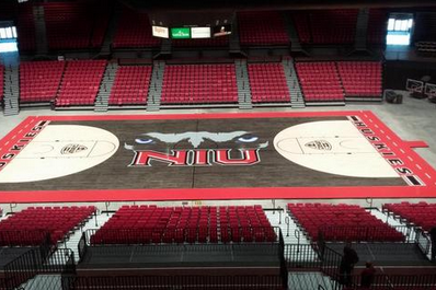 Northern Illinois Shows off Unique New Black and White Court