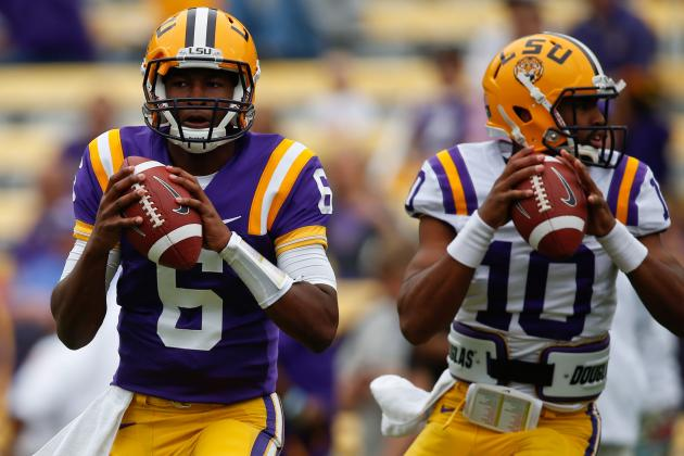 LSU's Season Riding on Les Miles' Ability to Pick a Quarterback
