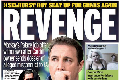 UK Back Pages: Vincent Tan's Revenge on Malky Mackay, Mario Balotelli and More
