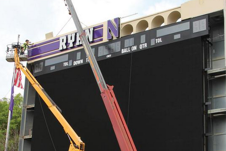 Northwestern Installing New Video Boards at Ryan Field and Welsh-Ryan Arena