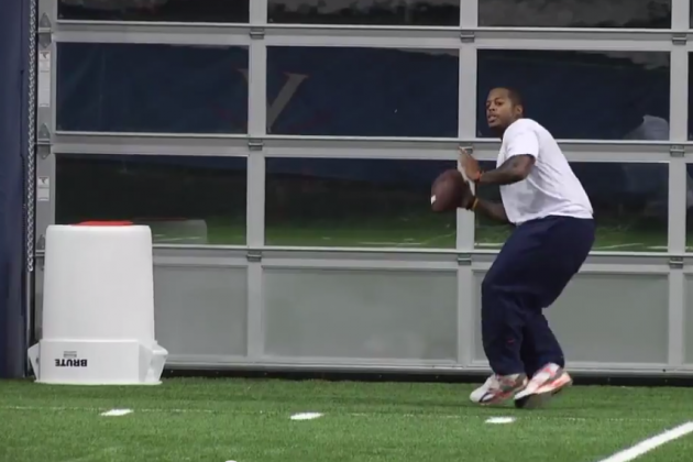 UVa WR Coach Hagans Throws Football into a Trash Can from Across the Field