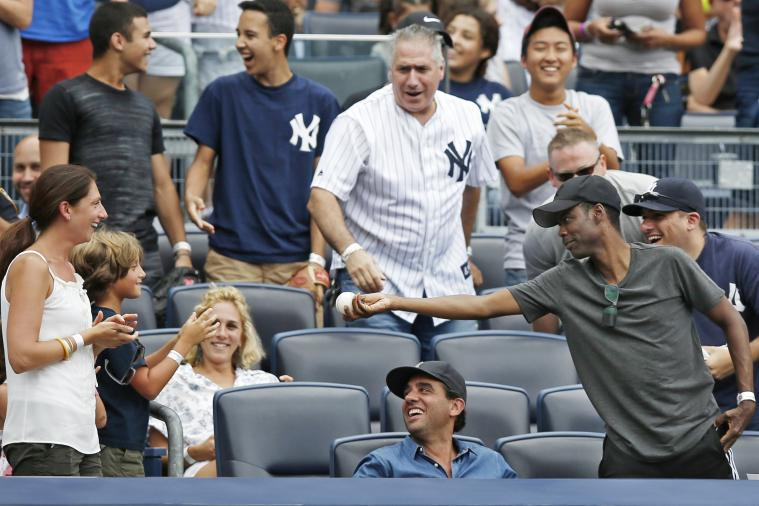 Chris Rock Grabs Foul Ball at Yankees Game, Gives It to Young Fan