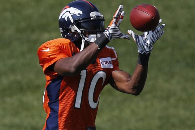 Emmanuel Sanders Returns to Practice as Broncos, Texans Finish Feisty Week