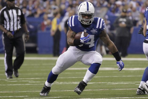 Trent Richardson's Fantasy Value Is Dependent on Health of Ahmad Bradshaw