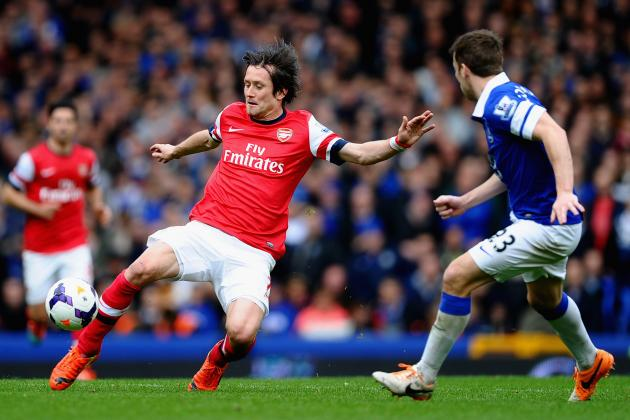 Everton vs. Arsenal: How the Gunners Will Line Up in Premier League Game