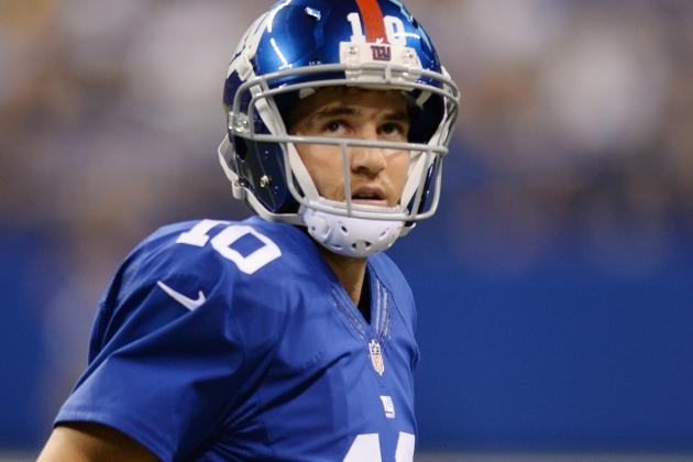 During Matchup with NY Jets, NY Giants QB Eli Manning