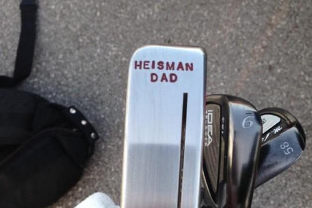Manziel's Father Has 'Heisman Dad' Engraved Golf Putter