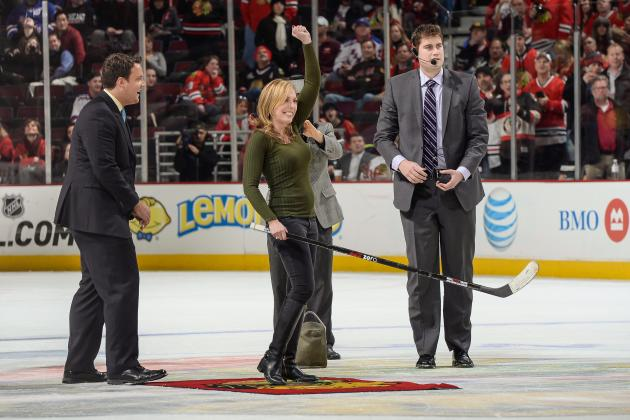 Linda Cohn Reportedly Sues Hockey Arena After Cutting Arm on Change Machine