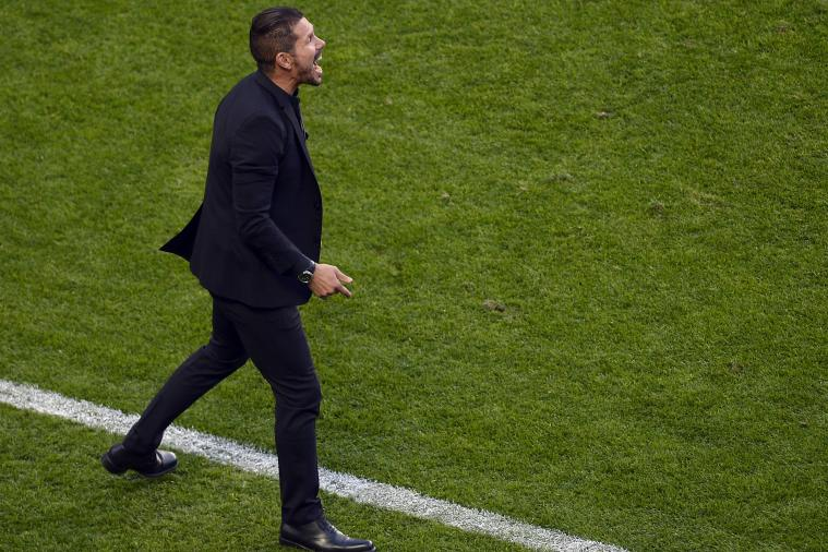 Twitter Reacts as Diego Simeone Receives Red Card in Spanish Super Cup