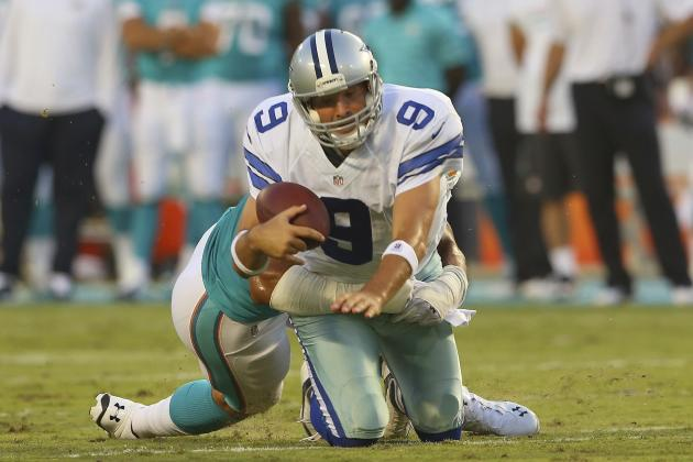 Romo 'Knocked Around' in First Half