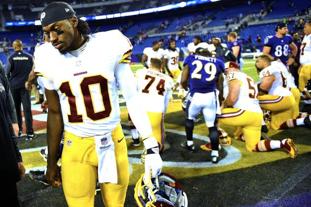 RGIII Not Instilling Confidence in Development, State of Washington Offense