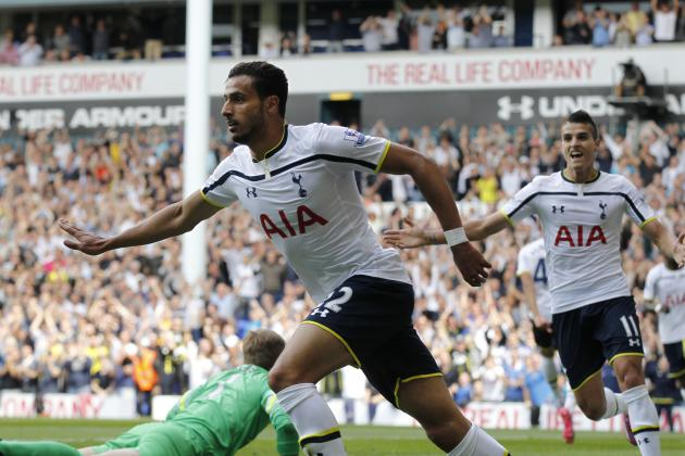 Twitter Reacts to Nacer Chadli's Performance vs. QPR