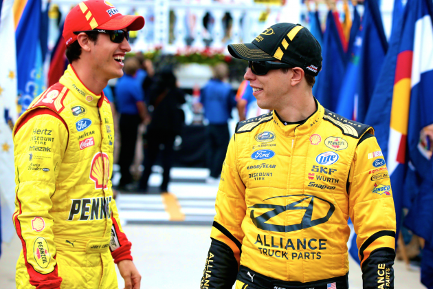 Penske Racing Puts Chase Field on Notice as Logano, Keselowski Go 1-2 at Bristol