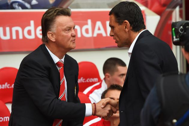 Sunderland vs. Manchester United: Reaction from Gus Poyet and Louis Van Gaal