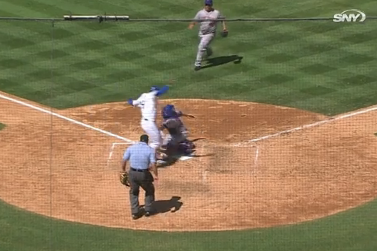 Mets Turn a Triple Play Thanks to Some Poor Baserunning by Yasiel Puig
