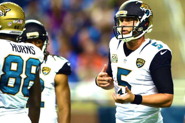 Jacksonville Jaguars Blake Bortles Is Not Ready to Be a Quality NFL Starter Yet