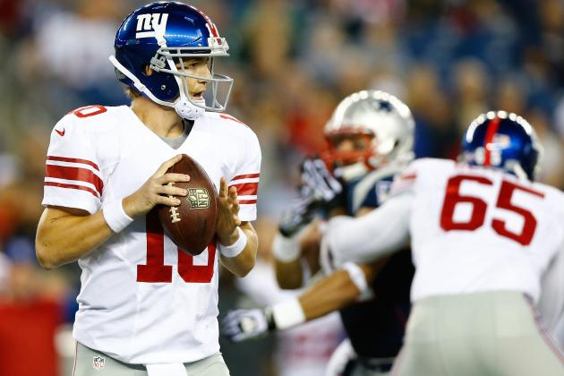 Eli Manning, Starters to Play vs. Patriots