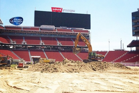 Levi's Stadium Tears Up Ruined Sod After Chargers vs. 49ers Game