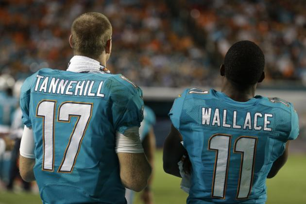 Wallace and Tannehill Work After Practice (Finally)