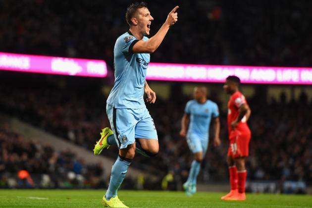 Stevan Jovetic's Form Gives Manchester City Leg Up in Premier League Title Chase