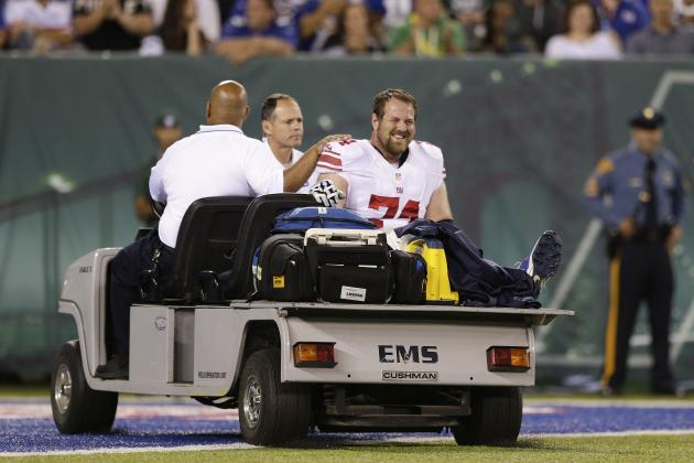 Geoff Schwartz Injury: Updates on Giants OL's Toe and Return