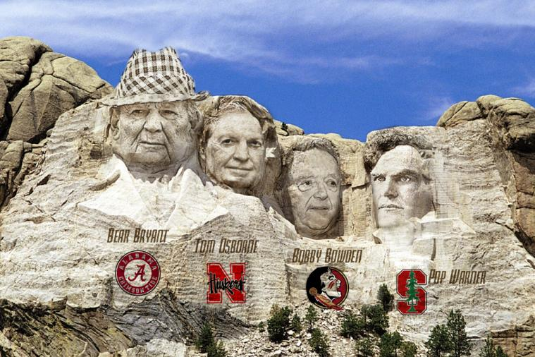 The Mount Rushmore of College Football Head Coaches