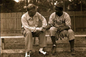 Image: Jackie Talks with Rickey After MTL Royals Game