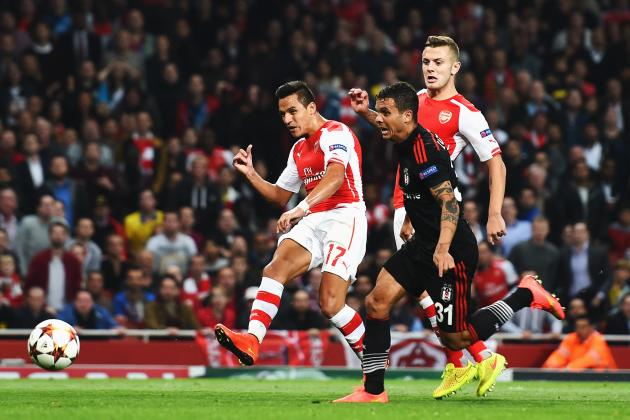 Twitter Reacts to Alexis Sanchez's Performance from Arsenal vs. Besiktas