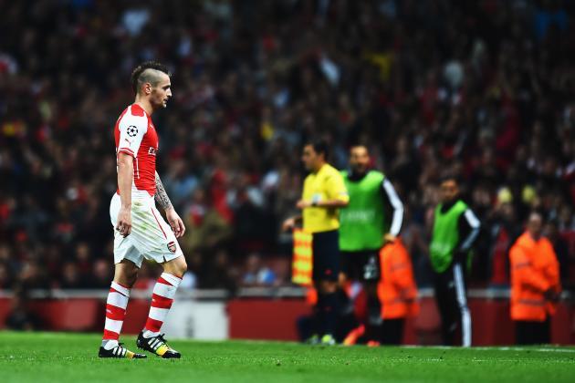 Twitter Reacts as Mathieu Debuchy Receives Red Card During Arsenal vs. Besiktas