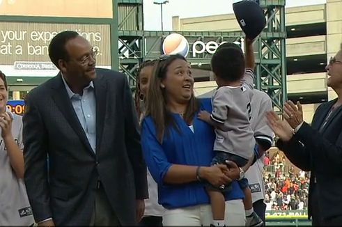 Jeter's Nephew Was the Real Star of the Tigers' Pregame Ceremony for Derek