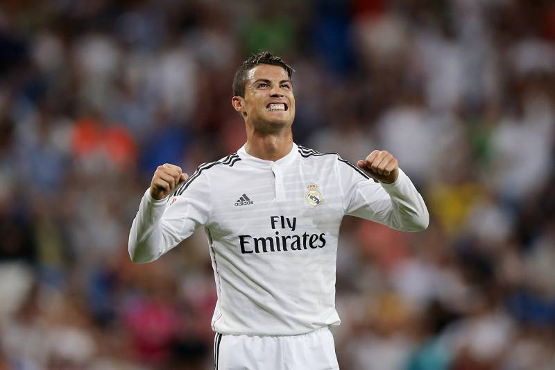Cristiano ronaldo named 2013 14 uefa best player in europe real madrids cristiano ronaldo from portugal celebrates his goal during a spanish la liga soccer match voltagebd Gallery