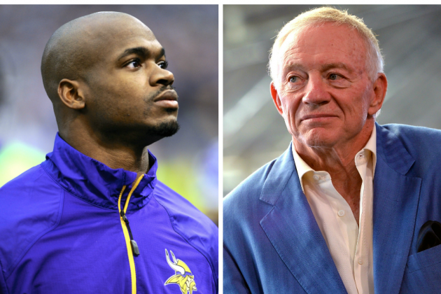 Adrian Peterson Called Jerry Jones to Express Interest in Playing for Cowboys