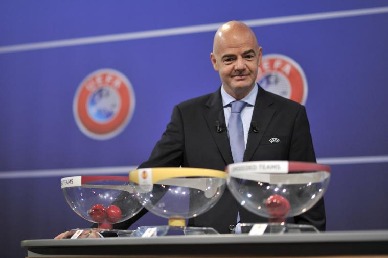 Run of Gianni Infantino Jokes Makes the Rounds During Champions League Draw