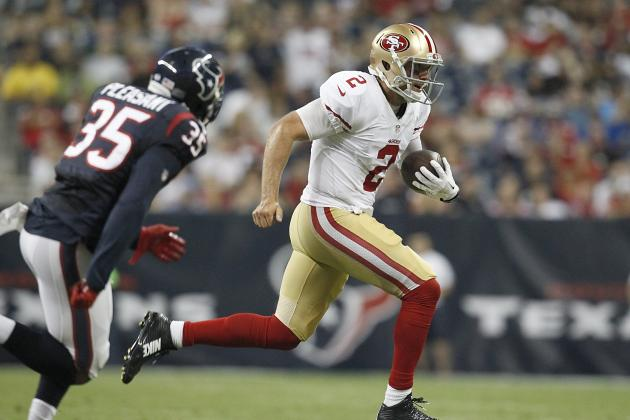 Borland Returns Pick for TD, 49ers Beat Texans
