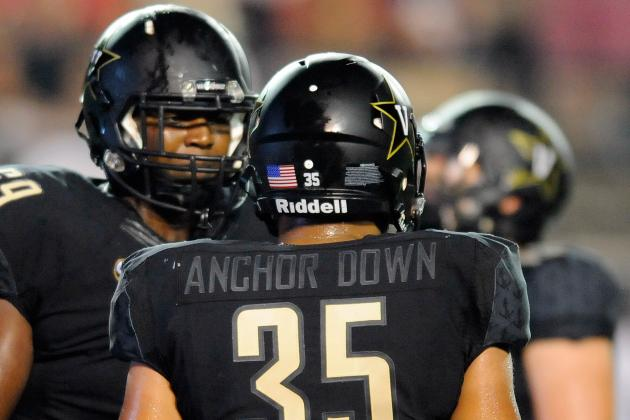 Vanderbilt Uniforms Cause Confusion vs. Temple with 'Anchor Down' on Nameplate