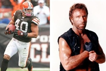 Cleveland Browns Peyton Hillis is the NFL's Chuck Norris