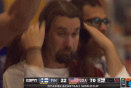 Man Dressed as Jesus Attends USA-Finland FIBA Game